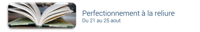 perfectionnement à la reliure